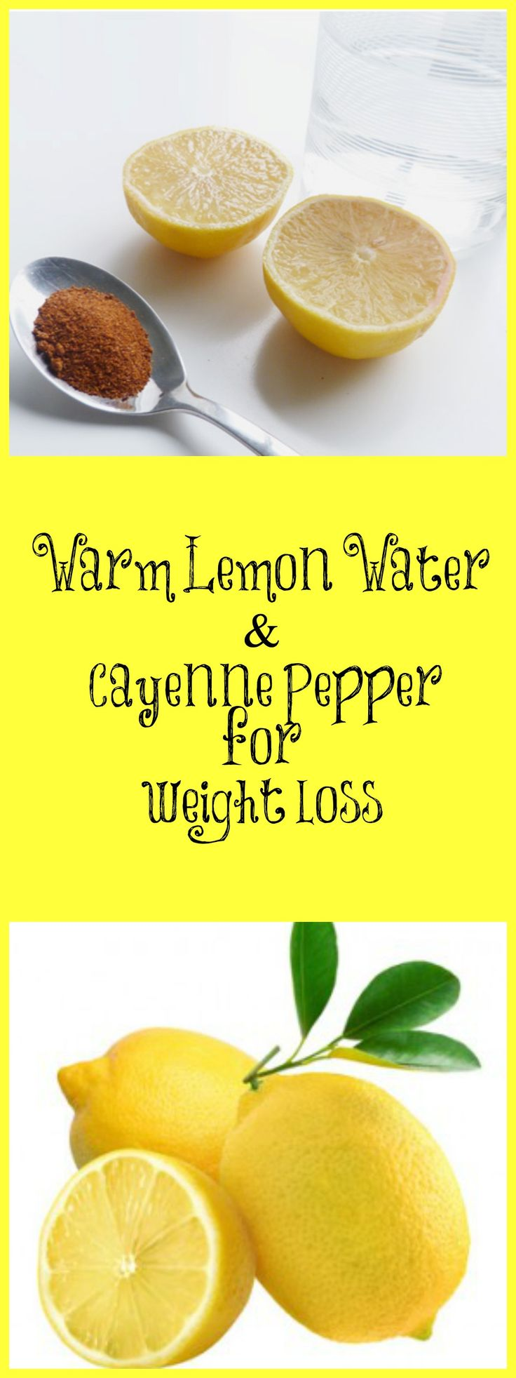 How warm lemon water and cayenne pepper can help with weight loss! Click image for full article