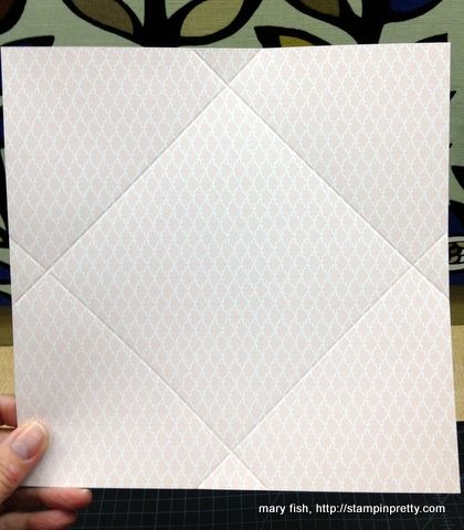 TIP - score the lines deep first - then cut the corners out before folding the envelope