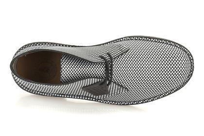 Mens Originals Boots - Desert Pattern in Black/White from Clarks shoes