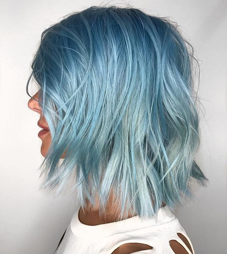 Pastel blue hair color by @candicemarielv #pulpriothair