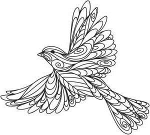 Контурные рисунки для рисования, витража, батика