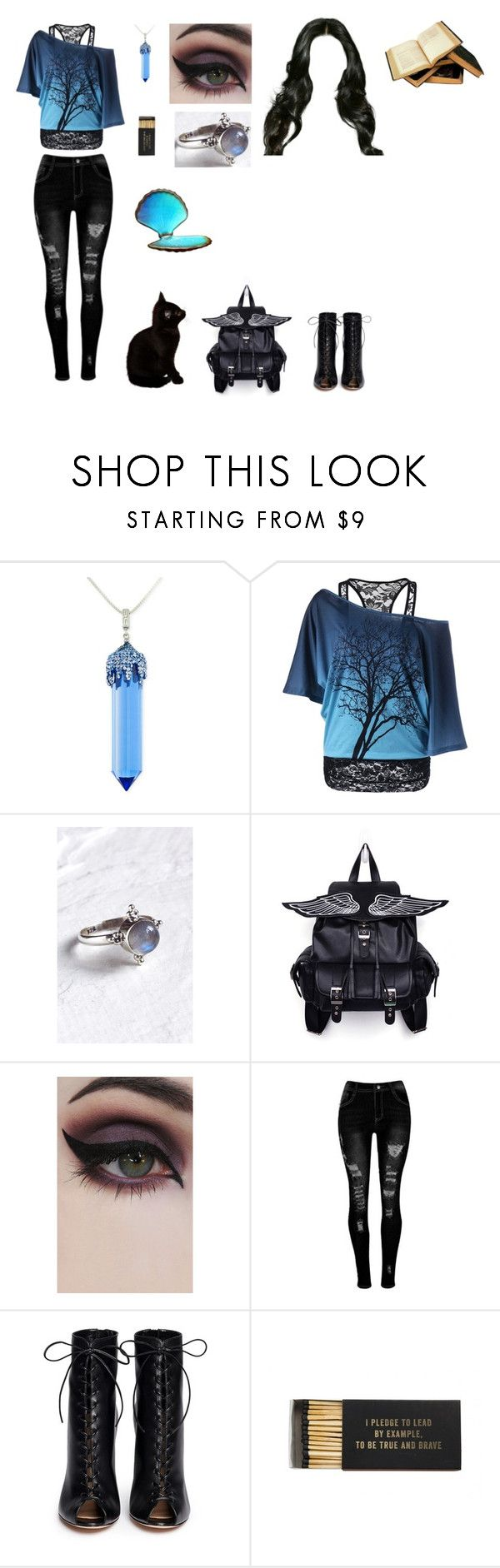 """Blue aurora"" by me1ody ❤ liked on Polyvore featuring Simone I. Smith, Aluna Mae, Concrete Minerals, Gianvito Rossi and Jayson Home"