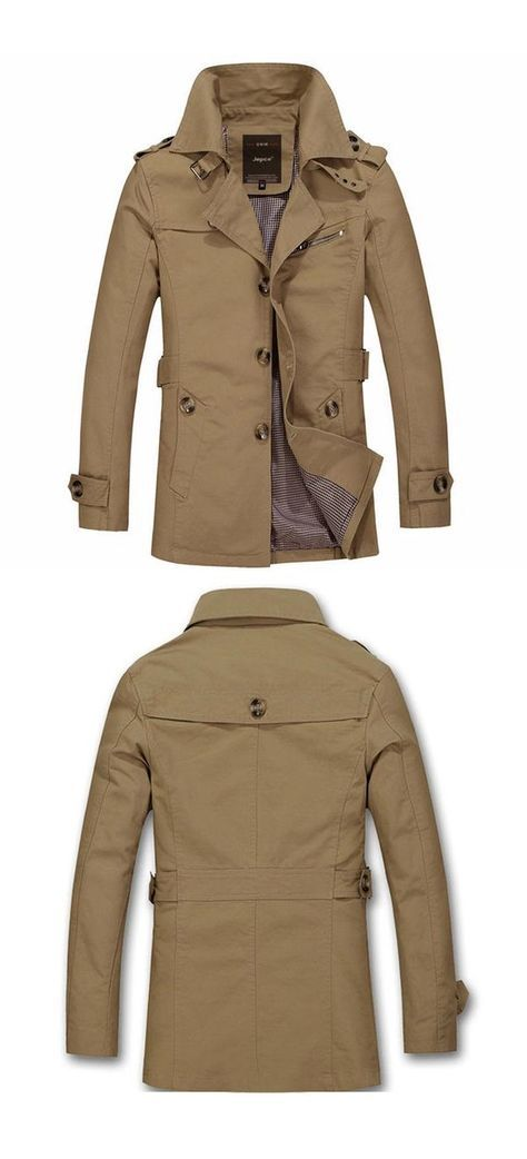 Men's Autumn / Spring Comfortable #Trench #Coat_________10% OFF Coupon Code: PNTRST10_________#Zorket Provides Only Top Quality Products for Reasonable Prices + FREE SHIPPING Worldwide_________