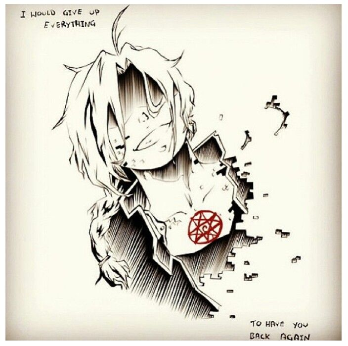 Give it all up - {anime, manga, otaku, fangirl, death, FMA, Fullmetal Alchemist, Edward Elric, art, fan, drawing, sketch}