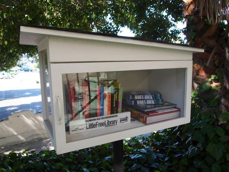 BN Cao. Los Angeles, CA.   My husband built our Little Free Library for me as an anniversary present. He designed it with the midcentury modern architecture in mind to reflect our neighborhood's most prominent architect Richard Neutra.