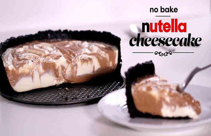 Tarta de queso con Nutella. Video receta, cómo hacerlo paso a paso