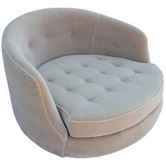 Великолепный Мило Боман Круг поворотный Кресло для отдыха в мохера