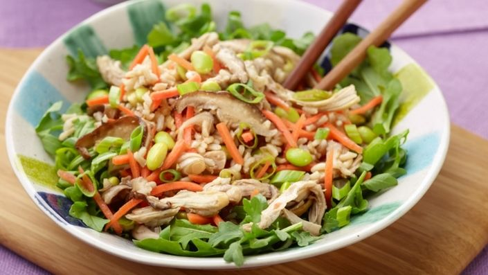 How to make the perfect 15-Minute Asian Rice Salad by Food Network Kitchens on Food Network UK.