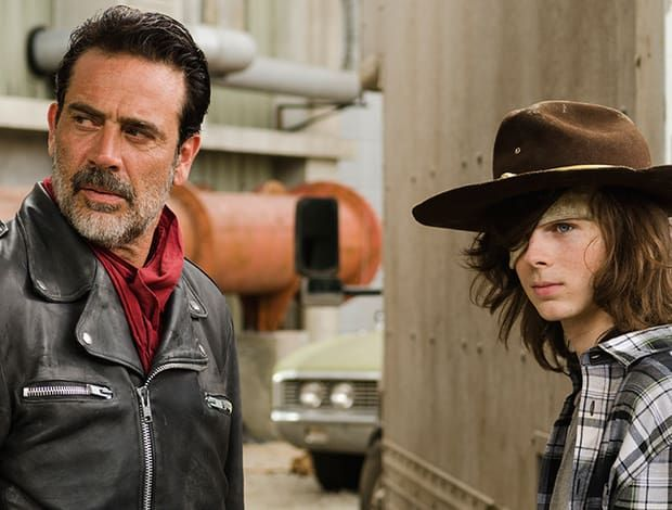 the walking dead negan carl