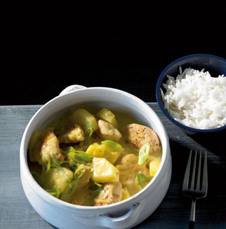 Hähnchenragout mit Curry