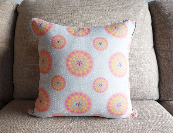 Dot Dot Dot square cotton cushion cover by ThistleandCotton