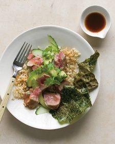 Brown Rice with Tuna, Avocado, and Toasted Nori