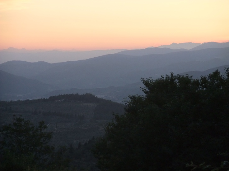 evening ambiance in the mountains of the Toscana!