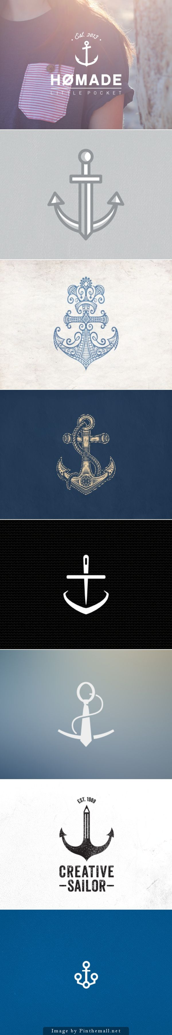 Beautiful Anchor Logos It's such a cliche thing now but I've always loved anchors and still do a lot. Especially like this.