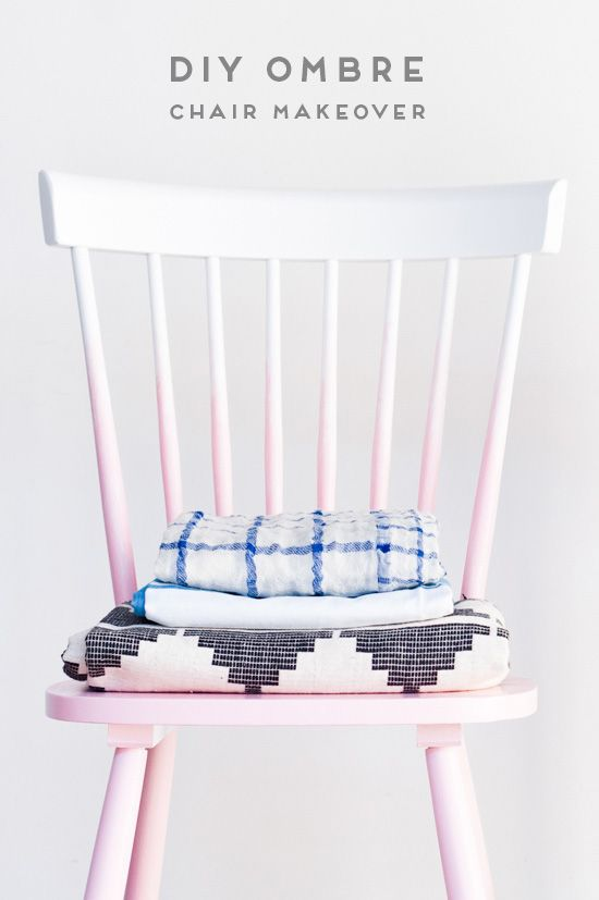 A DIY ombre chair makeover with just two supplies - and it takes under an hour to complete!