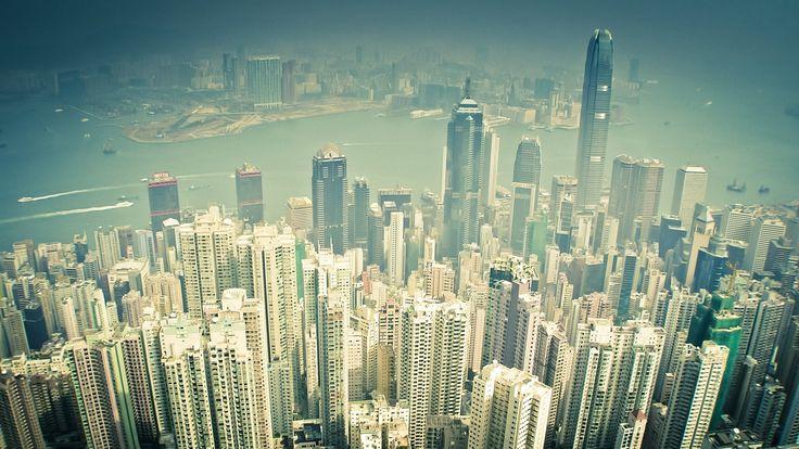 Гонконг, город, высота, небоскрёбы обои, картинки, фото