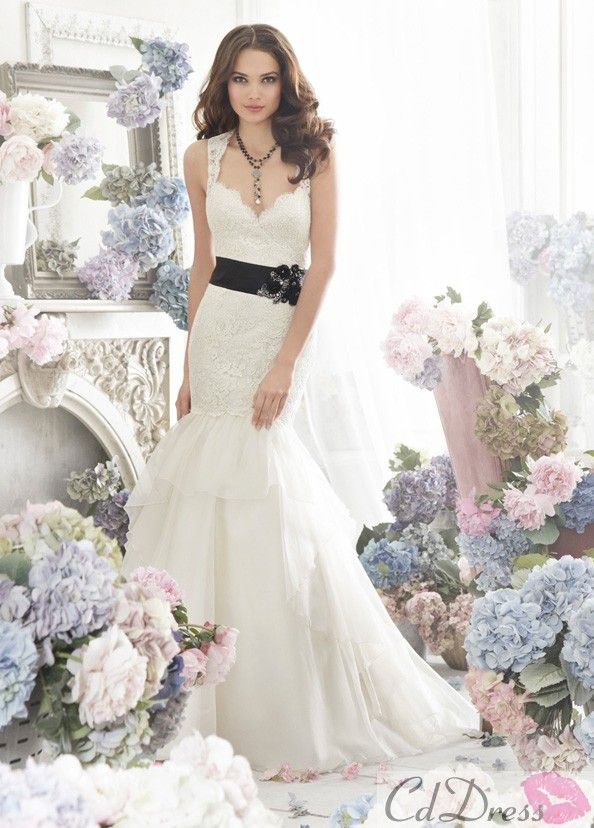 54 best midi wedding dress images on pinterest wedding for Midi length wedding dress