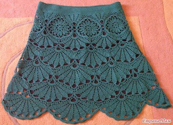 crochet skirt - diagram