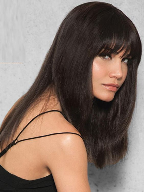 30 Best Long Sleek Black Haircuts With Bangs 2017 2018