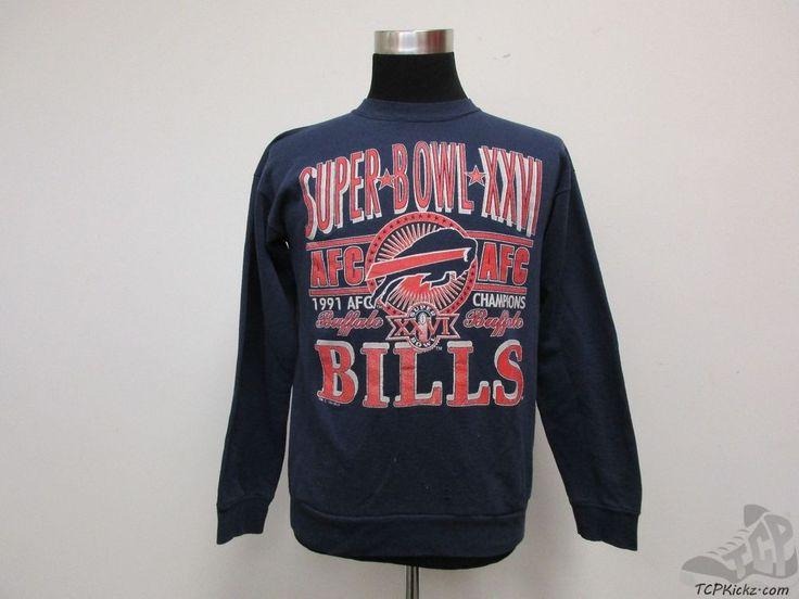 Vtg 90s Tultex Buffalo Bills SUPER BOWL XXVI 26 Crewneck Sweatshirt sz L Large #Tultex #BuffaloBills  #tcpkickz