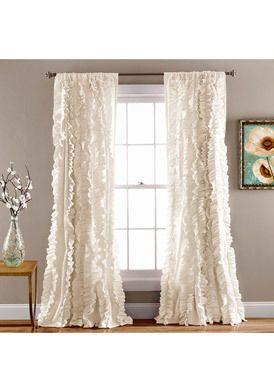 Lush D�cor Belle 84-inch Ivory Ruffle Curtain Panel