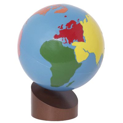 globe of continents