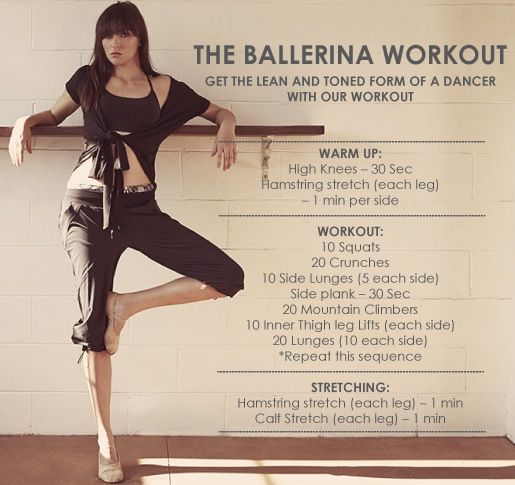 Ballet workout.