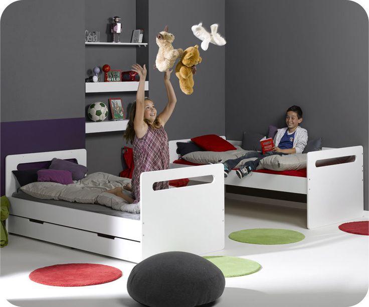 Les 25 meilleures id es de la cat gorie deux lits jumeaux sur pinterest lit - Lit superpose jumeaux ...