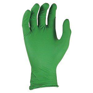 "SHOWA Best Glove Medium Green 9 1/2"" GREEN-DEX N-DEX 4 mil Nitrile Ambidextrous Non-Sterile Powder-Free Disposable Gloves With Smooth Finish, Rolled Cuff And Polymer Coating - 1 BX"