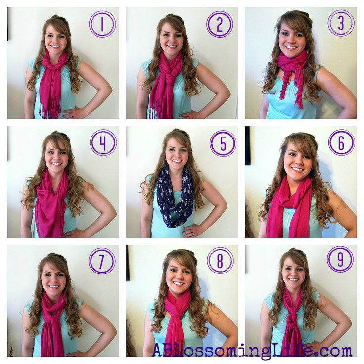 28 best Scarf Tying images on Pinterest | Wear a scarf ...