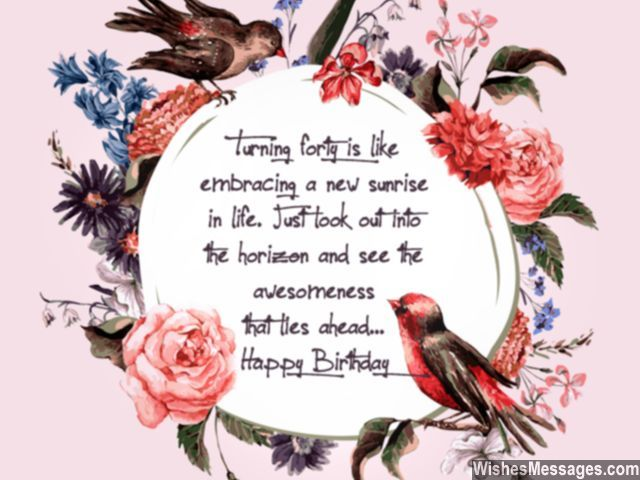 Cute birthday greeting for turning 40 sweet message
