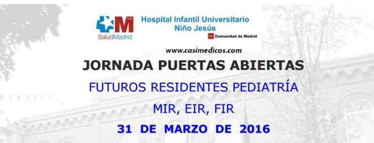 Jornada Puertas Abiertas Hospital Niño Jesús 2016