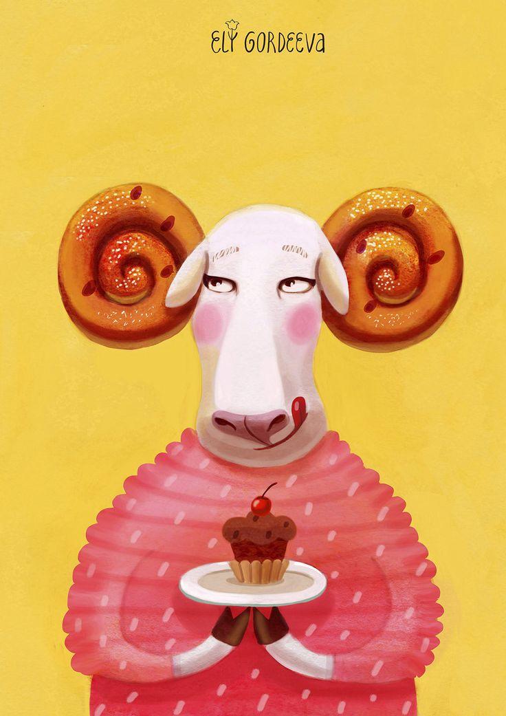 Sheep Danish roll Warm/ Овечка Крендель Тепло