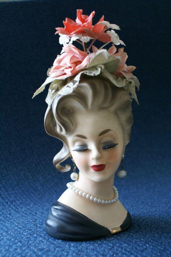 Vintage Inarco Lady Head Vase.