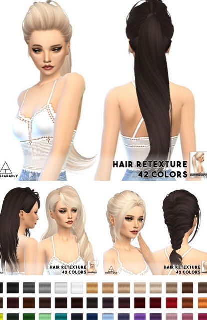 Miss Paraply: Skysims solid hairstyle retextured  - Sims 4 Hairs - http://sims4hairs.com/miss-paraply-skysims-solid-hairstyle-retextured/