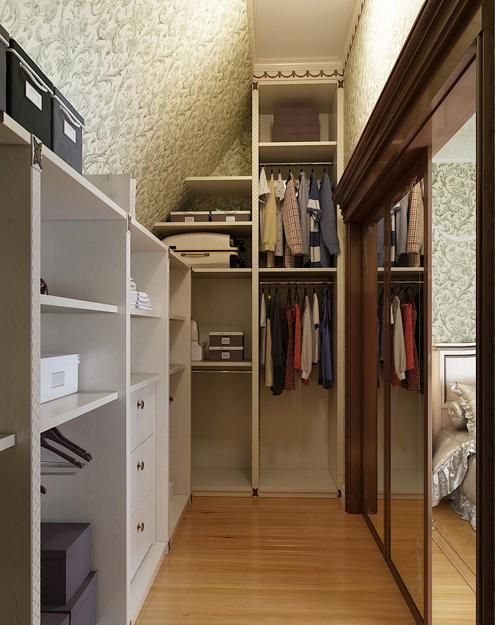 112 best images about slanted wall storage on pinterest for Organizing a walk in closet