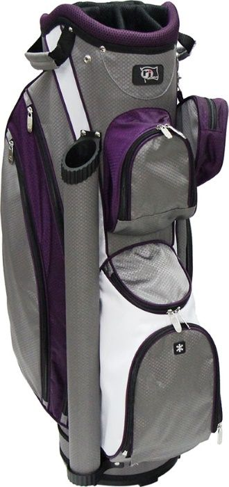 Grey/Purple RJ Sports Ladies Boutique Golf Cart Bag at one of the top shops for ladies golf bags #lorisgolfshoppe