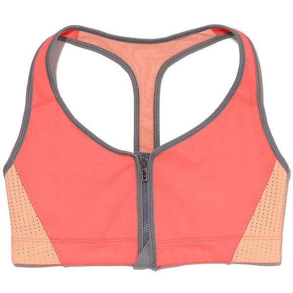 VS Sport The Player by Victoria's Secret Zip-front Sport Bra ($25) ❤ liked on Polyvore featuring activewear, sports bras, sport, underwear, gym, sports bra, zipper front sports bra, victoria secret sportswear, sports activewear and racer back sports bra