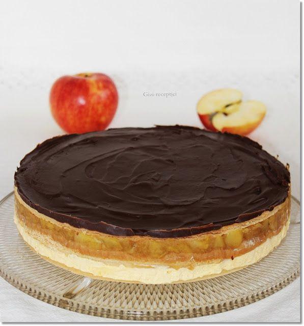 Gizi-receptjei. Várok mindenkit.: Almás-krémes torta.