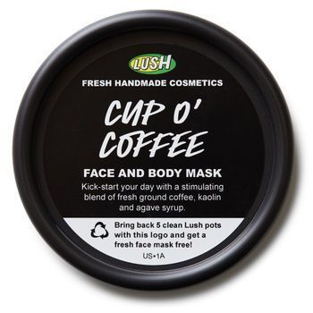 Cup O' Coffee Wakes up tired complexions  If you're a sucker for the strong, dark, stimulating type, this coffee-filled mask is just the thing to kick-start your day. Wake up and invigorate the skin and mind with the rich, intoxicating aroma of freshly brewed coffee and sweet roasted cocoa extract. Kaolin deeply cleanses impurities from the pores and ground coffee acts as a gentle scrub to buff away dryness and reveal the glowing skin beneath. Smooth this one all over your body to feel soft…