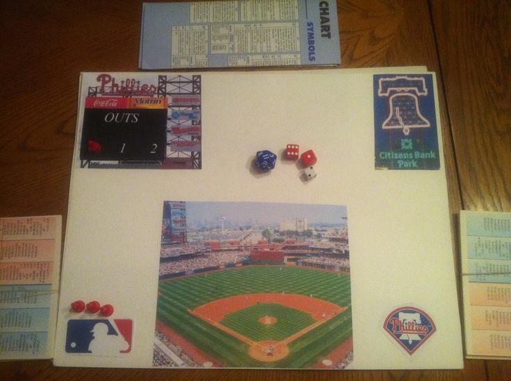 The third Phillies stadium by Wizzie Stetler, Citizens Bank Park. @Philadelphia Phillies #phillies #stratomatic