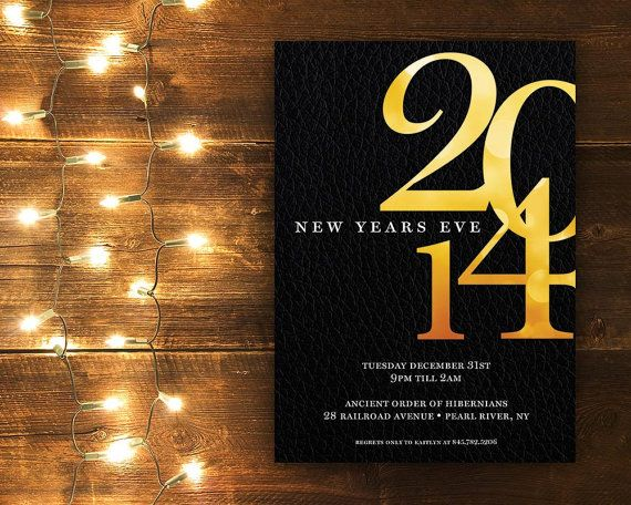 Printable | 5 New Year's Party Invite Printables