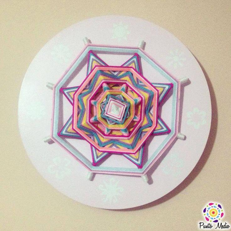 Mandala para bebes y niños.  Armoniza sus habitaciones, los colores suaves y cálidos los ayudara a tener un ambiente tranquilo, los motivara a concentrarse y sonreír. www.facebook.com/Ptomedio