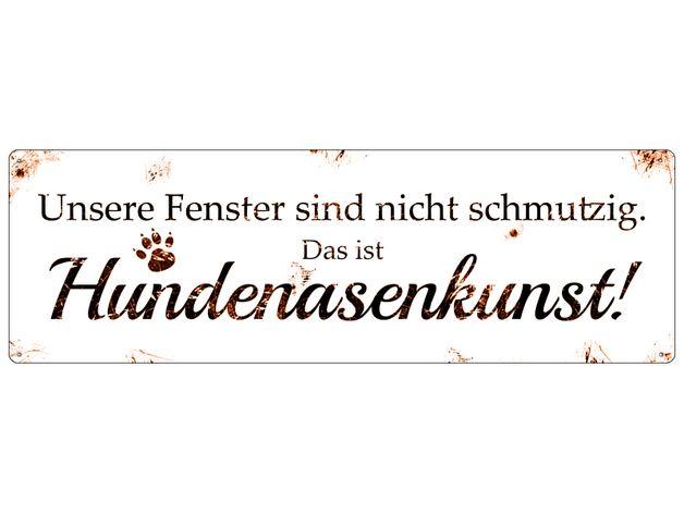 Aufkleber & Schilder - Schild DAS ORIGINAL Metall HUNDENASENKUNST Hund - ein Designerstück von Interluxe bei DaWanda