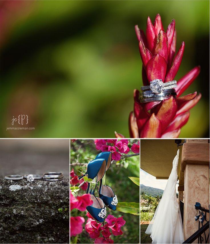 Valle Escondido Wedding Photography Boquete Panama Destination Wedding Photographer Wedding Details Rings Shoes