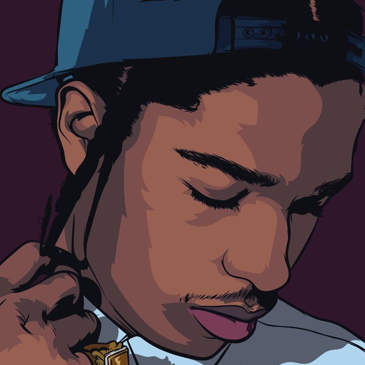 artwork and asap rocky image on We Heart It
