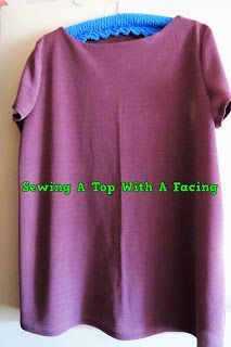 A Pretty Talent Blog: Sewing A Basic Top With An Under-stitched Facing.