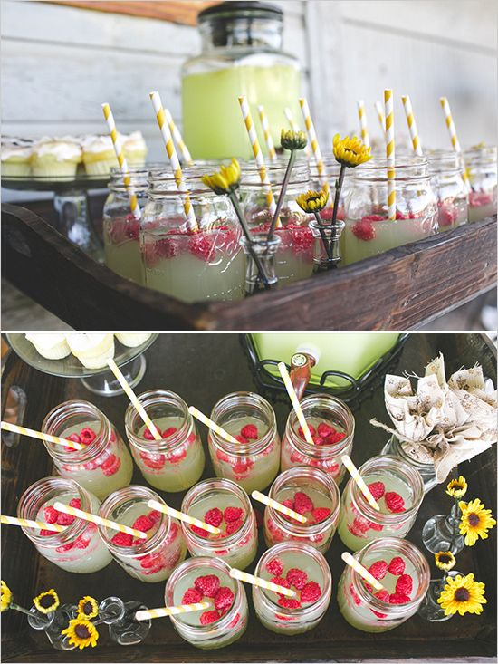 Limonada con popotes de papel #weddingreception #lemonadestand #weddingchicks http://www.weddingchicks.com/2014/02/10/i-heart-fall-wedding-inspiration/