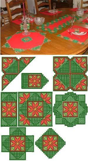 Advanced Embroidery Designs - Christmas Hardanger FSL Set