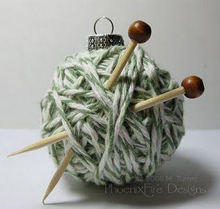 Kerstbal breien--in Dutch; knitting also.
